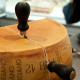 Cracking of the Parmigiano Reggiano at Festival Italiano